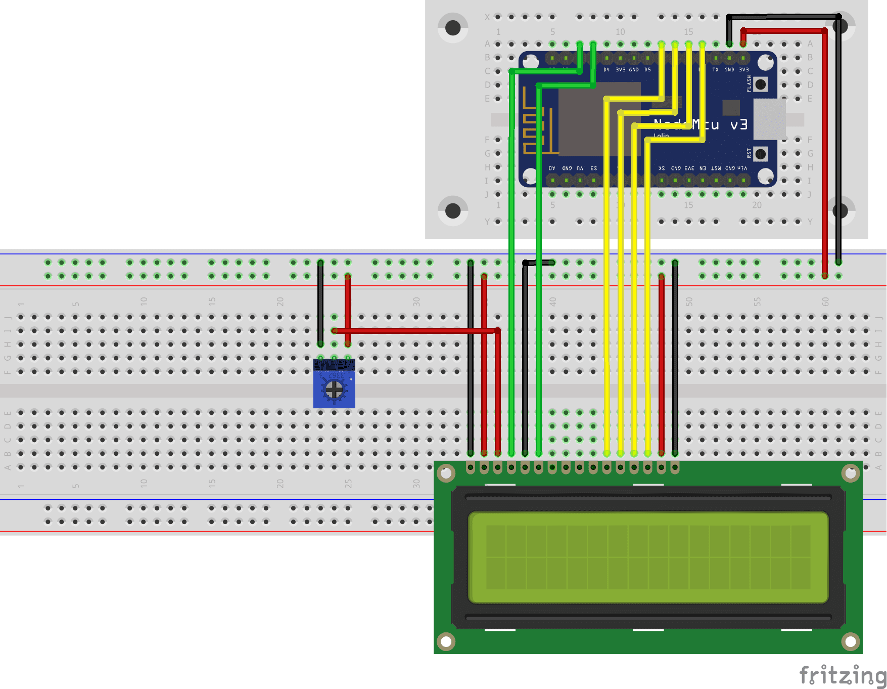 LCD NodeMCU without I2C