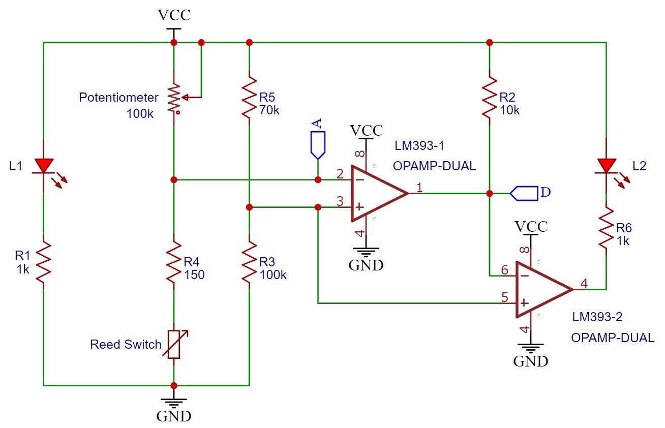 KY-025 Reed Switch Schematic