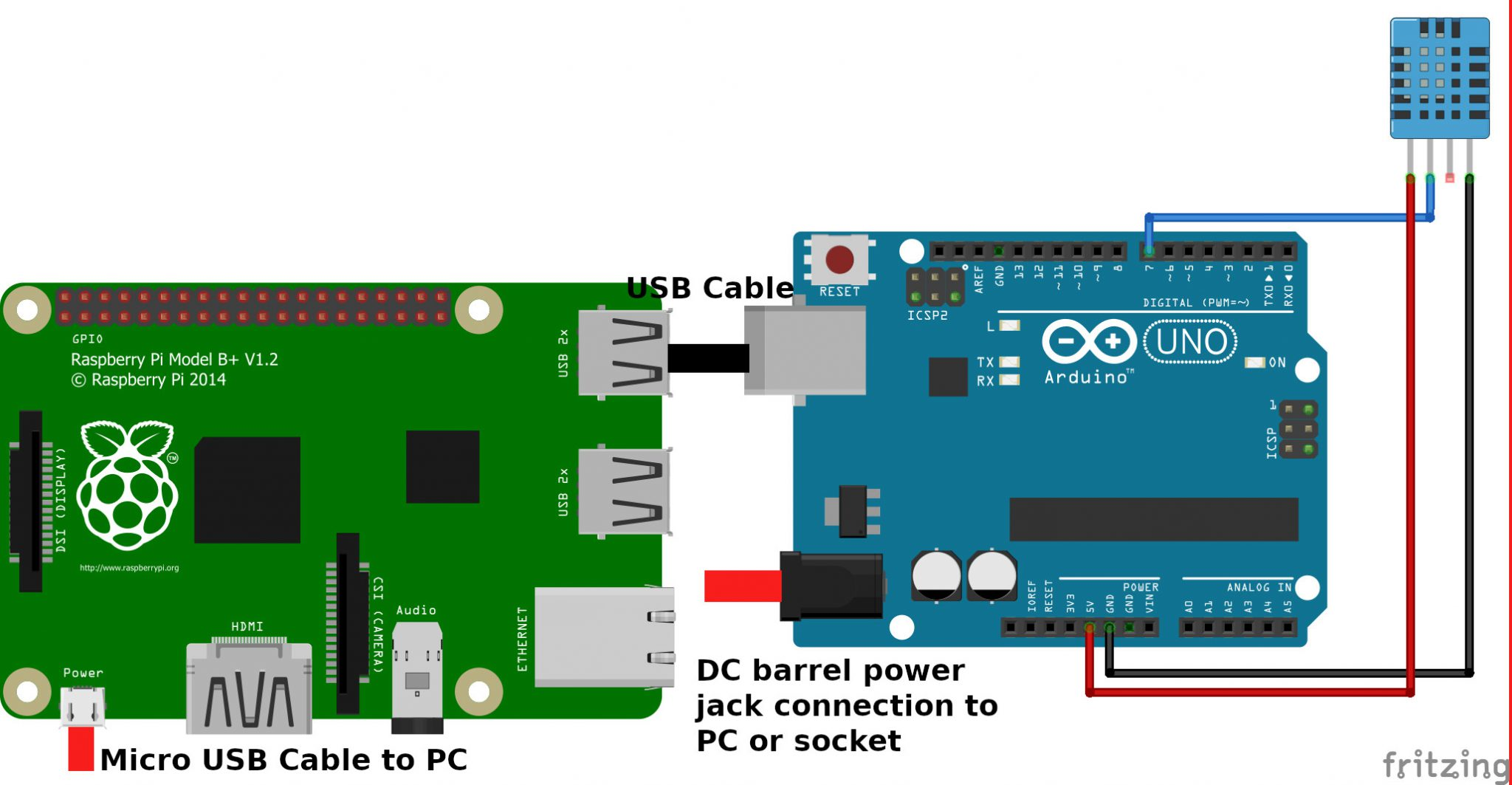Arduino to Raspberry Pi PC