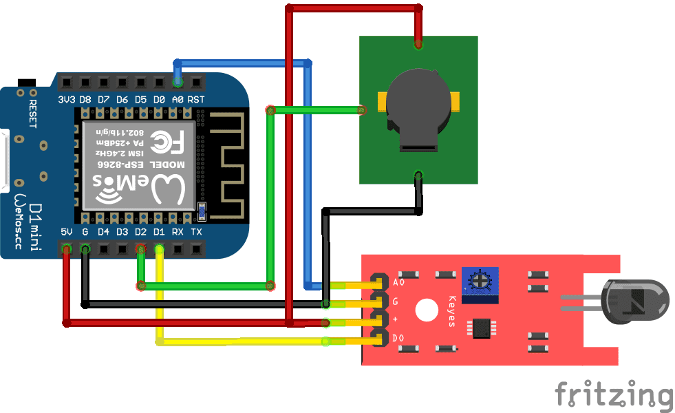 Fire Sensor ESP8266 WeMosD1 Mini
